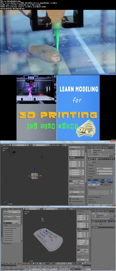 [MULTI] Learn modeling for 3D Printing and make money