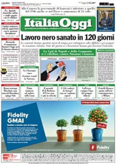 Italia Oggi - 4 Dicembre 2015