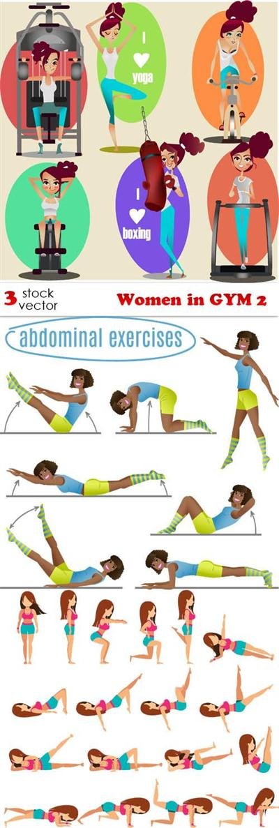 Vectors - Women in GYM 2