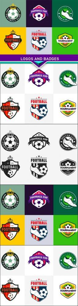 Set of football soccer championship, logos and badges 5x JPEG
