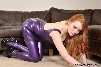 Purple Dress and Stockings - Roxana