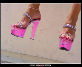 Pink Heels On Feet RedOptics.com