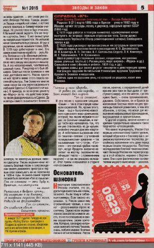 Попутчик. Криминальное чтиво №1 (январь 2016)
