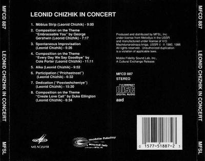 Леонид Чижик - In Concert (1986)