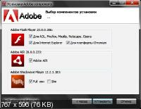 Adobe components: Flash Player 20.0.0.286 + AIR 20.0.0.233 + Shockwave Player 12.2.3.183