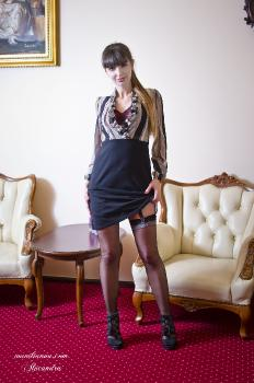 Alexandra as a kinky office lady