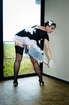 Kinky maid in action!