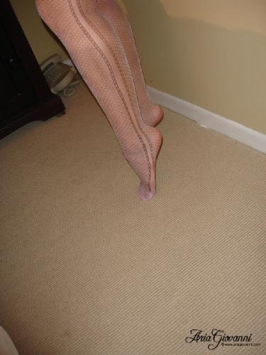 0957 fet Pink Patterned Pantyhose
